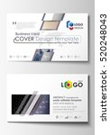 business card templates. cover... | Shutterstock .eps vector #520248043
