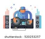 dj character music | Shutterstock .eps vector #520253257