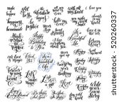 big set of handwritten positive ... | Shutterstock . vector #520260337