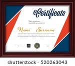 certificate template letter... | Shutterstock .eps vector #520263043