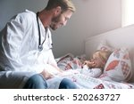 young male doctor visiting his... | Shutterstock . vector #520263727