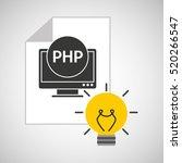 idea code web program php... | Shutterstock .eps vector #520266547