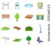 park icons set. cartoon... | Shutterstock .eps vector #520268113