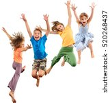 group of happy cheerful... | Shutterstock . vector #520268437