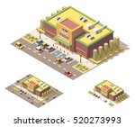 vector isometric low poly... | Shutterstock .eps vector #520273993