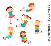 collection of happy children in ...   Shutterstock .eps vector #520274683