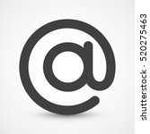 email symbol   vector icon. at... | Shutterstock .eps vector #520275463