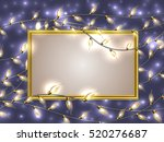 gold frame with place for text... | Shutterstock .eps vector #520276687