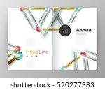 molecule annual report....   Shutterstock . vector #520277383
