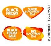 set speech bubble banners ... | Shutterstock .eps vector #520279387