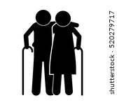pictogram elderly couple with... | Shutterstock .eps vector #520279717