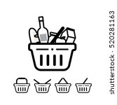 grocery shopping baskets  ... | Shutterstock .eps vector #520281163