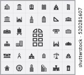 architecture icons universal...   Shutterstock .eps vector #520281607