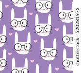 Seamless Cute Bunny Pattern...