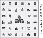 architecture icons universal... | Shutterstock .eps vector #520282057