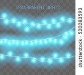 christmas lights. transparent...   Shutterstock .eps vector #520283593