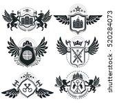 vintage heraldry design... | Shutterstock .eps vector #520284073