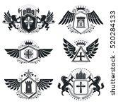 vintage decorative emblems... | Shutterstock .eps vector #520284133