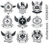 heraldic designs  vector... | Shutterstock .eps vector #520284307