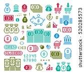 vector flat 8 bit icons ... | Shutterstock .eps vector #520285573