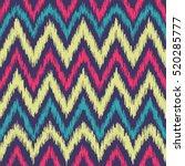 vector seamless ikat ethnic... | Shutterstock .eps vector #520285777