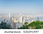 view of hong kong city and... | Shutterstock . vector #520291597