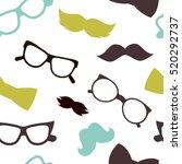 mustaches seamless pattern | Shutterstock .eps vector #520292737