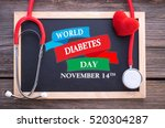 world diabetes day  november... | Shutterstock . vector #520304287