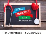 world disability day  december... | Shutterstock . vector #520304293