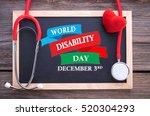 world disability day  december... | Shutterstock . vector #520304293