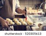 man apron cooking baking bakery ... | Shutterstock . vector #520305613