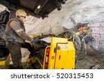 gold mining underground | Shutterstock . vector #520315453