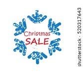 snow background for christmas... | Shutterstock .eps vector #520317643