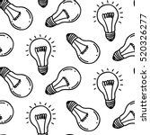 lamp light bulb hand drawn... | Shutterstock .eps vector #520326277