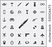 knife icon. army icons... | Shutterstock .eps vector #520326673