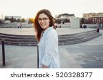 a charming beauty blogger with... | Shutterstock . vector #520328377