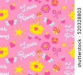 pink little princess pattern... | Shutterstock .eps vector #520328803