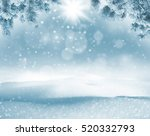 winter bright background.... | Shutterstock . vector #520332793