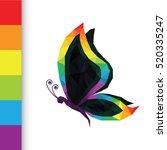 rainbow color geometric...   Shutterstock .eps vector #520335247