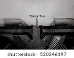thank you typed words on a... | Shutterstock . vector #520346197