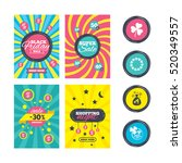 sale website banner templates.... | Shutterstock .eps vector #520349557