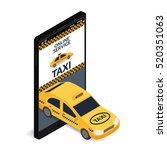 vector illustration. car taxi... | Shutterstock .eps vector #520351063