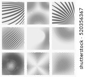 set of striped abstract forms | Shutterstock .eps vector #520356367