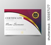 certificate template awards...   Shutterstock .eps vector #520357177