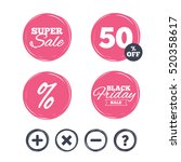 super sale and black friday... | Shutterstock .eps vector #520358617