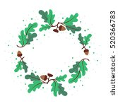 decorative wreath of oak leaves ... | Shutterstock .eps vector #520366783