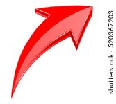 red arrow. 3d shiny up rising... | Shutterstock .eps vector #520367203
