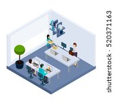 coworking employees sharing... | Shutterstock . vector #520371163
