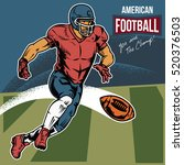 retro american football player... | Shutterstock .eps vector #520376503