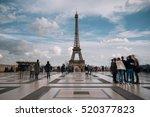 eiffel tower. paris. france.... | Shutterstock . vector #520377823